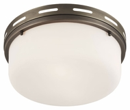 Feiss FM386SBZ Manning Satin Bronze Finish 13.25  Wide Flush Ceiling Light Fixture