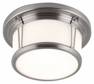 Murray Feiss FM387BS Woodward Brushed Steel Finish 5.375  Tall Flush Mount Ceiling Light Fixture