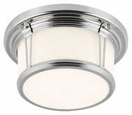 Murray Feiss FM387PN Woodward Polished Nickel Finish 5.375  Tall Overhead Light Fixture