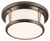 Feiss FM388CLT Woodward Chocolate Finish 13.25  Wide Ceiling Light