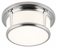 Feiss FM388PN Woodward Polished Nickel Finish 5.375  Tall Ceiling Light Fixture