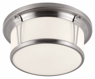 Feiss FM389BS Woodward Brushed Steel Finish 6.75  Tall Ceiling Light Fixture