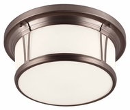 Murray Feiss FM389CLT Woodward Chocolate Finish 16.5  Wide Flush Lighting