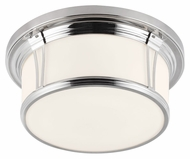 Feiss FM389PN Woodward Polished Nickel Finish 6.75  Tall Flush Mount Lighting
