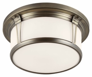 Feiss FM389SBZ Woodward Satin Bronze Finish 16.5  Wide Overhead Lighting