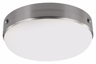 Murray Feiss FM390BS Cadence Brushed Steel Finish 4.625  Tall Flush Mount Light Fixture