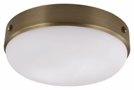 Feiss FM390DAB Cadence Dark Antique Brass Finish 13  Wide Flush Mount Lighting Fixture