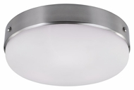 Feiss FM391BS Cadence Brushed Steel Finish 5.375  Tall Flush Ceiling Light Fixture