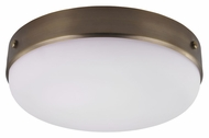 Feiss FM391DAB Cadence Dark Antique Brass Finish 16  Wide Flush Mount Ceiling Light Fixture