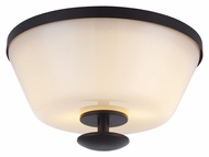 Feiss FM394ORB Huntley Oil Rubbed Bronze Finish 10.25  Wide Overhead Light Fixture