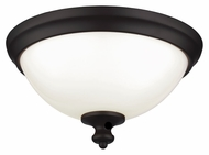 Murray Feiss FM397ORB Parkman Oil Rubbed Bronze Finish 13  Wide Ceiling Light Fixture
