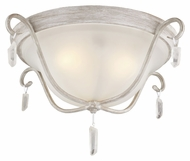 Feiss FM398CHKW Caprice Chalk Washed Finish 19.625  Wide Ceiling Light Fixture