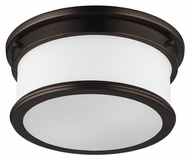 Murray Feiss FM399DPZ Payne Dark Plated Bronze Finish 12.5  Wide Flush Mount Lighting