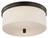 Murray Feiss FM401ORB Lismore Oil Rubbed Bronze Finish 6.625  Tall Flush Mount Lighting Fixture