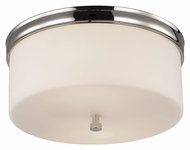 Murray Feiss FM401PN Lismore Polished Nickel Finish 13.125  Wide Flush Ceiling Light Fixture