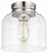 Murray Feiss FM404PN Hounslow Retro Polished Nickel Finish 9  Wide Ceiling Lighting Fixture