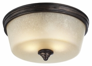 Feiss FM406AZ-WBR Arbor Creek Arbor Bronze / Weathered Brass Finish 6.125  Tall Ceiling Light Fixture