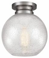 Murray Feiss FM407BS Tabby Contemporary Brushed Steel Finish 8.5  Wide Flush Lighting