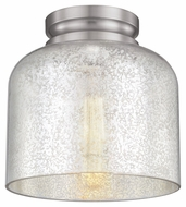 Murray Feiss FM408BS Hounslow Modern Brushed Steel Finish 8.875  Tall Flush Mount Light Fixture