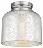Feiss FM408PN Hounslow Modern Polished Nickel Finish 8.875  Tall Flush Ceiling Light Fixture