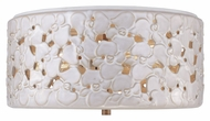 Murray Feiss FM410WTPC-BD Azalia Contemporary White Taupe Ceramic / Beach Wood Finish 8.125  Tall Home Ceiling Lighting