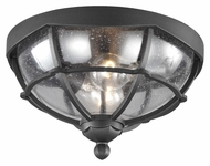 Murray Feiss OL9812TXB River North Traditional Textured Black Finish 7.5  Tall Exterior Overhead Lighting Fixture