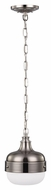 Feiss P1282PN-BS Cadence Polished Nickel / Brushed Steel Finish 10.875  Tall Mini Drop Ceiling Light Fixture
