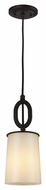 Feiss P1290ORB Huntley Oil Rubbed Bronze Finish 13.125  Tall Mini Hanging Pendant Lighting
