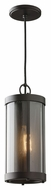 Feiss P1292ORB Bluffton Oil Rubbed Bronze Finish 13  Tall Mini Pendant Hanging Light