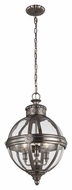 Feiss P1294ANL Adams Antique Nickel Finish 14.625  Wide Hanging Light Fixture