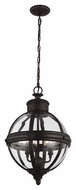 Feiss P1294ORB Adams Oil Rubbed Bronze Finish 21.625  Tall Drop Lighting