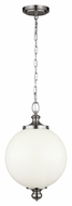 Murray Feiss P1295BS Parkman Brushed Steel Finish 12  Wide Drop Ceiling Lighting