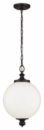 Feiss P1295ORB Parkman Oil Rubbed Bronze Finish 19.375  Tall Ceiling Light Pendant