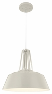 Murray Feiss P1304HGG Freemont Modern Hi Gloss Grey Finish 16  Wide Pendant Light