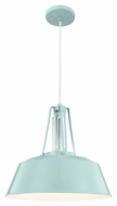Murray Feiss P1304SHBL Freemont Modern Hi Gloss Blue Finish 16  Wide Pendant Lamp