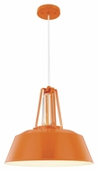 Feiss P1304SHOG Freemont Contemporary Hi Gloss Orange Finish 14.375  Tall Hanging Lamp