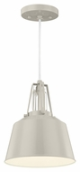 Murray Feiss P1305HGG Freemont Modern Hi Gloss Grey Finish 9  Wide Mini Hanging Light