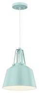 Murray Feiss P1305SHBL Freemont Modern Hi Gloss Blue Finish 9  Wide Mini Pendant Lighting Fixture