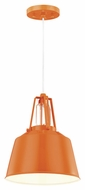 Feiss P1305SHOG Freemont Contemporary Hi Gloss Orange Finish 11  Tall Mini Hanging Pendant Lighting