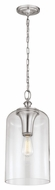 Murray Feiss P1309BS Hounslow Vintage Brushed Steel Finish 9  Wide Mini Drop Lighting Fixture