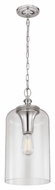 Murray Feiss P1309PN Hounslow Vintage Polished Nickel Finish 9  Wide Mini Pendant Light