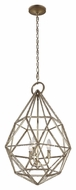 Murray Feiss P1312BUS Marquise Modern Burnished Silver Finish 28.125  Tall Pendant Light Fixture