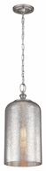 Murray Feiss P1319BS Hounslow Vintage Brushed Steel Finish 19.875  Tall Mini Hanging Lamp