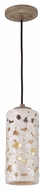 Murray Feiss P1323WTPC-BD Azalia Contemporary White Taupe Ceramic / Beach Wood Finish 11.375  Tall Mini Pendant Hanging Light