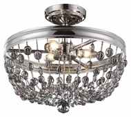 Murray Feiss SF312PN Malia Polished Nickel Finish 15.875  Wide Overhead Lighting