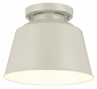 Murray Feiss SF314HGG Freemont Contemporary Hi Gloss Grey Finish 7.125  Tall Flush Mount Light Fixture
