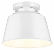 Murray Feiss SF314HGW Freemont Modern Hi Gloss White Finish 9  Wide Flush Mount Lighting Fixture