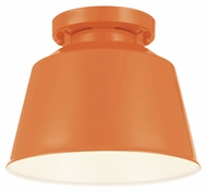 Feiss SF314SHOG Freemont Modern Hi Gloss Orange Finish 9  Wide Flush Mount Ceiling Light Fixture