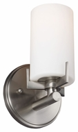 Murray Feiss VS39001-BS Kenton Brushed Steel Finish 8.375  Tall Wall Sconce Lighting