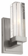 Feiss VS51001-BS Tonic Brushed Steel Finish 9.375  Tall Halogen Wall Sconce Lighting
